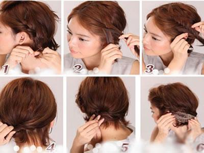 图解最新韩式发型扎法步骤