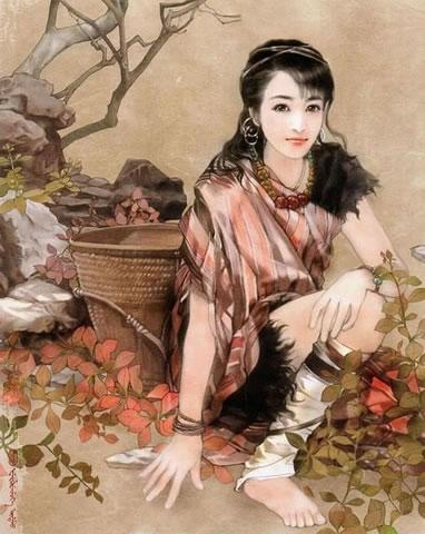 民族发型_独龙族美女发型
