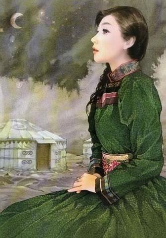 民族发型_鄂温克族美女发型